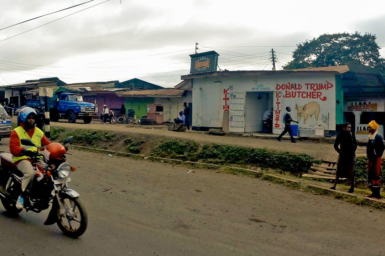 Donald Trump Butcher market in Arusha, Tanzania.
