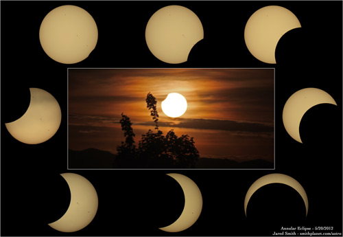 Compilation photo of eclipse.
