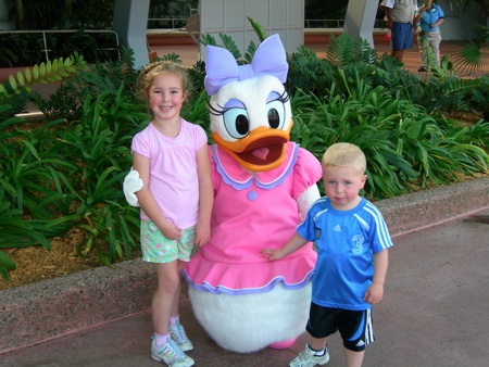 Abbie and Bryan with Daisy Duck
