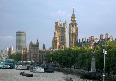 London, Big Ben, and the River Thames