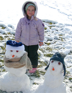 Abbie and her snowmen
