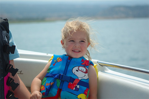 Abbie Riding The Boat
