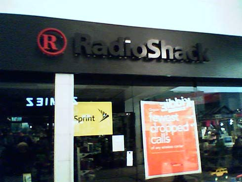 Radio Shack goes lights out